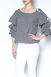Do-Be Gingham Layered Top - Product Mini Image