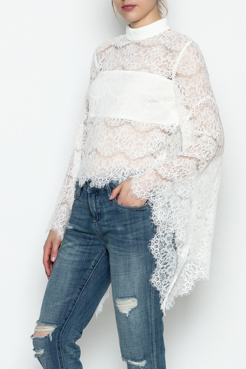 Do-Be Lace Belle Sleeve Top - Main Image