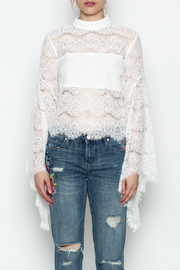 Do-Be Lace Belle Sleeve Top - Front cropped