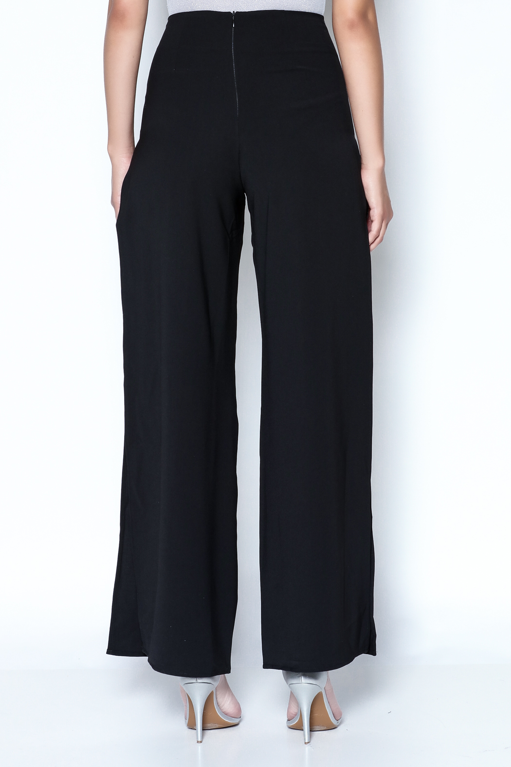 Do-Be Lace Insert Pants - Back Cropped Image