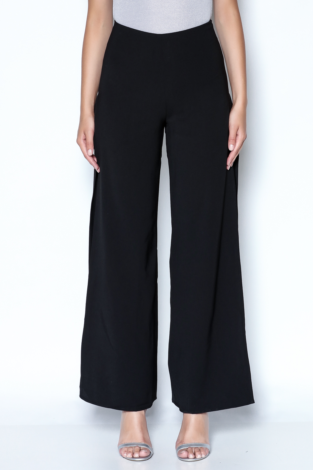 Do-Be Lace Insert Pants - Front Full Image