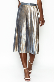 Do-Be Metallic Pleat Skirt - Front cropped