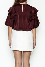 Do-Be Ruffle Sleeve Top - Back cropped