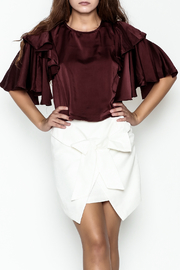 Do-Be Ruffle Sleeve Top - Product Mini Image