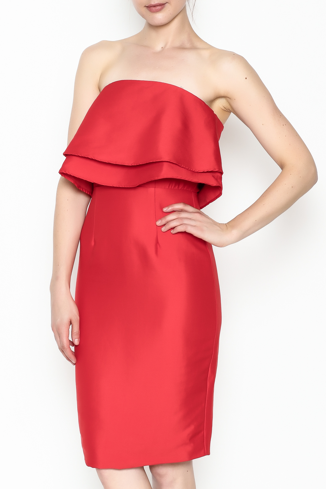 Do-Be Ruffle Strapless Dress - Main Image