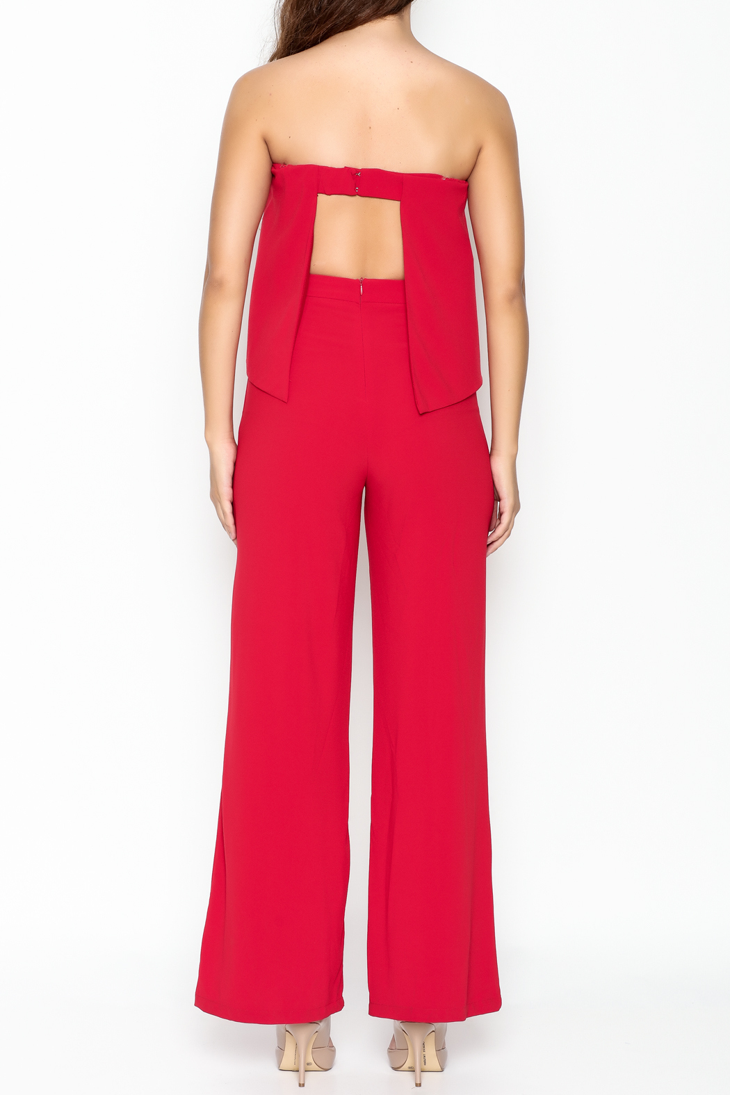 Do-Be Ruffle Strapless Jumpsuit - Back Cropped Image
