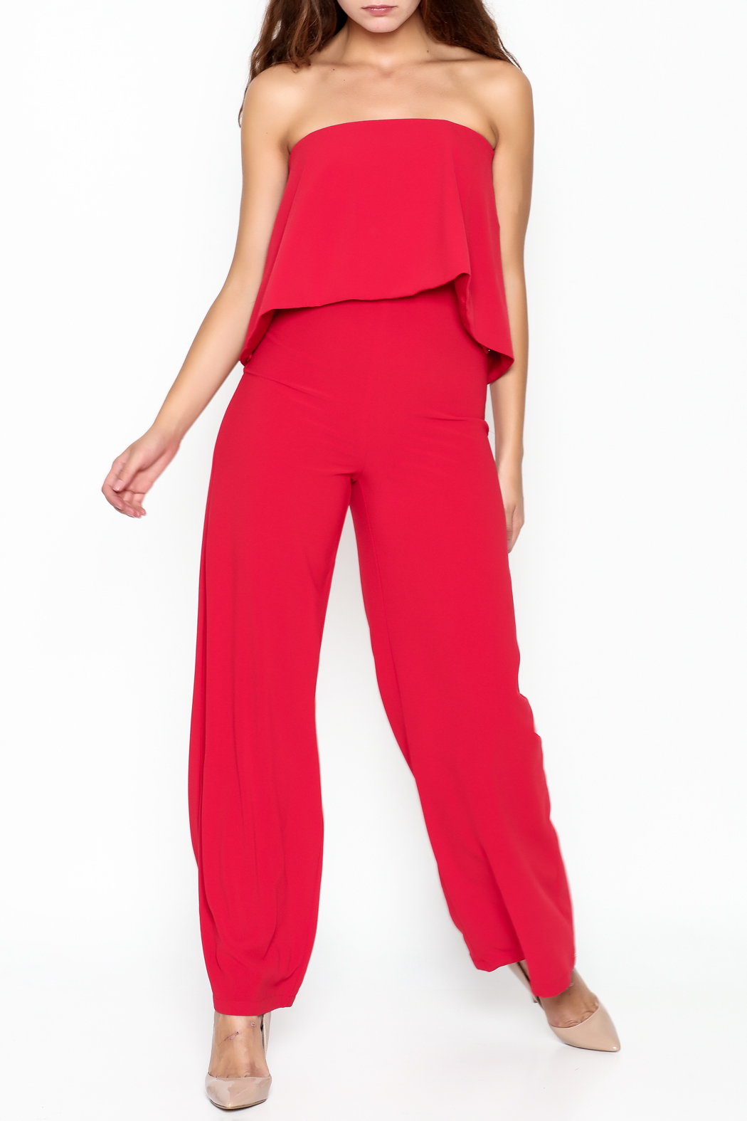 Do-Be Ruffle Strapless Jumpsuit - Main Image
