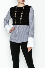 Do-Be Stripe Sweater Shirt - Product Mini Image