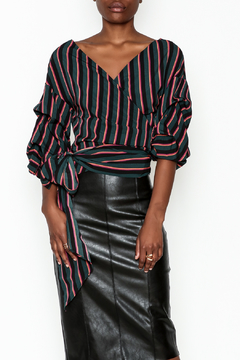 Do-Be Stripe Wrap Top - Product List Image