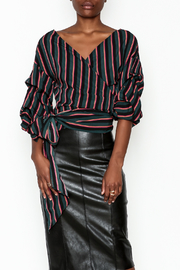 Do-Be Stripe Wrap Top - Product Mini Image