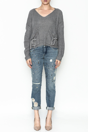 Do-Be Tie Pocket Sweater - Front full body