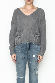 Do-Be Tie Pocket Sweater - Front cropped