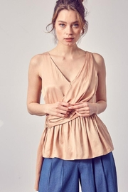 Do+Be Collection  Asymmetric Draped Top - Product Mini Image
