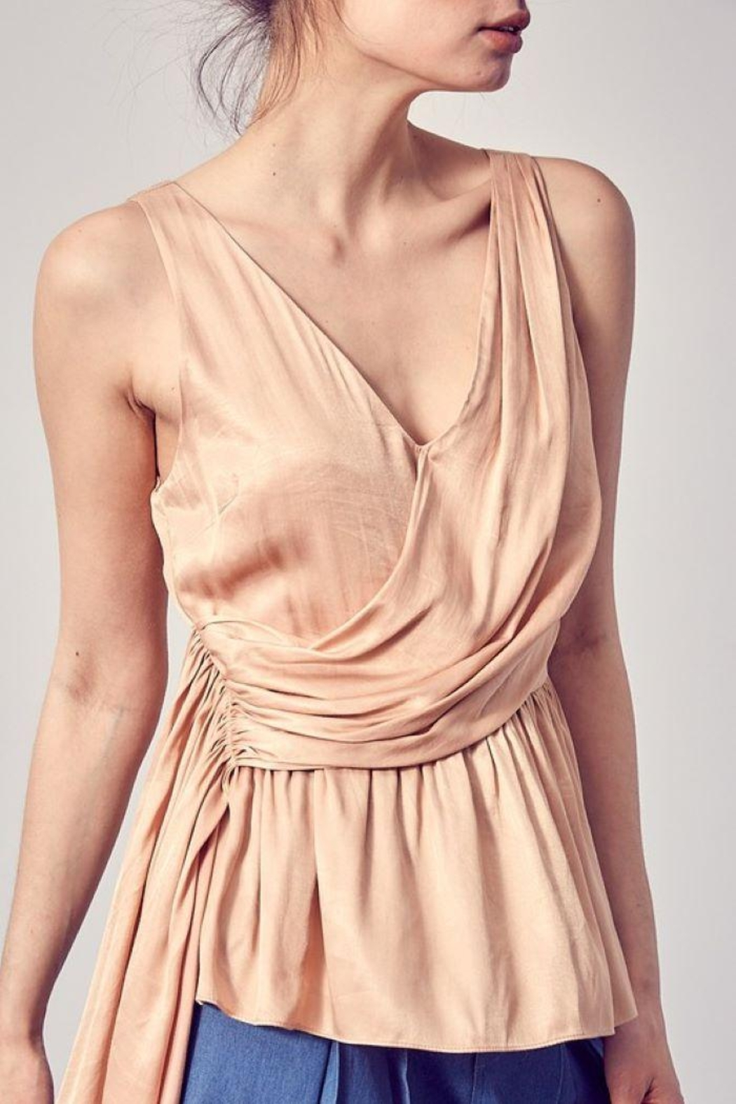 Do+Be Collection  Asymmetric Draped Top - Side Cropped Image