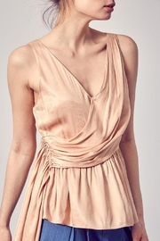 Do+Be Collection  Asymmetric Draped Top - Side cropped