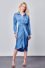 Do+Be Collection  Collar Button Down Front Tie Dress - Product Mini Image