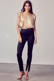Do+Be Collection  Front Slit Satin Skinny Pants - Product Mini Image
