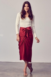 Do+Be Collection  Front Tie Button Down Woven Skirt - Product Mini Image