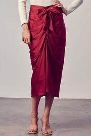 Do+Be Collection  Front Tie Button Down Woven Skirt - Front full body