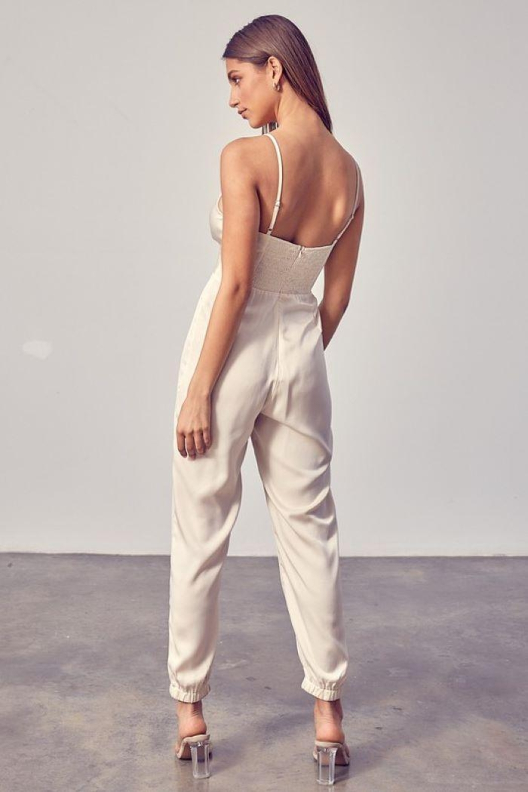Do+Be Collection  Front Twist Jumpsuit - Back Cropped Image