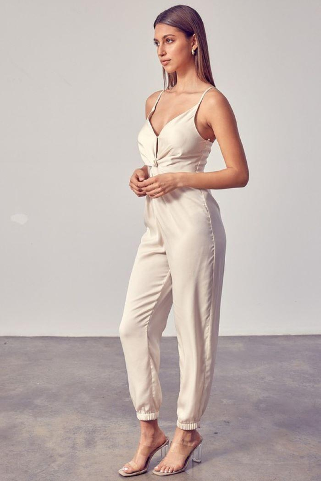 Do+Be Collection  Front Twist Jumpsuit - Side Cropped Image