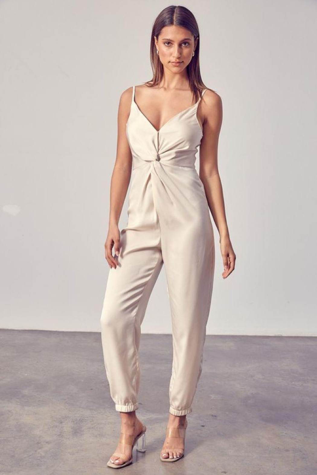 Do+Be Collection  Front Twist Jumpsuit - Main Image
