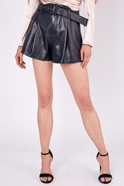 Do+Be Collection  Mid Rise Belted Faux Leather Shorts - Side cropped