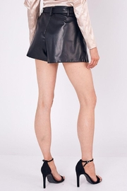 Do+Be Collection  Mid Rise Belted Faux Leather Shorts - Back cropped