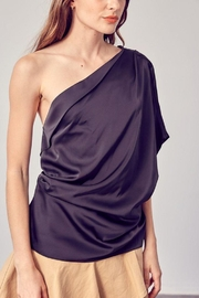 Do+Be Collection  One Shoulder Drape Top - Side cropped