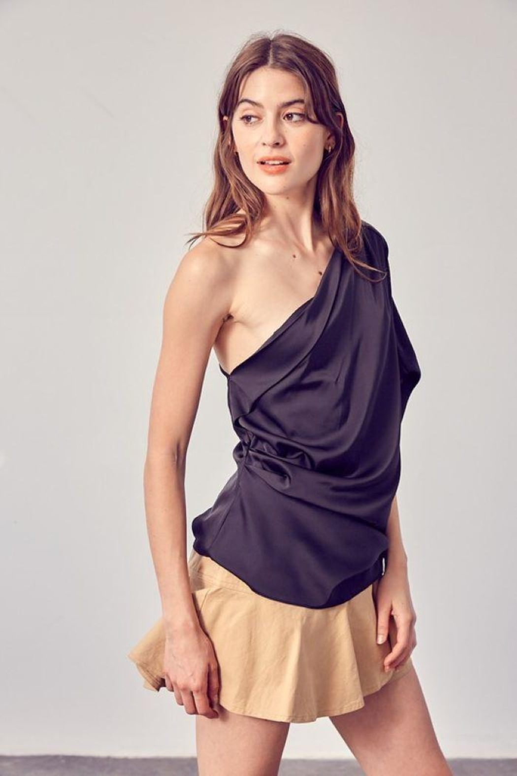 Do+Be Collection  One Shoulder Drape Top - Main Image