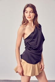 Do+Be Collection  One Shoulder Drape Top - Front cropped