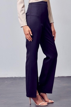 Do+Be Collection  Open Front Woven Slit Pants - Alternate List Image