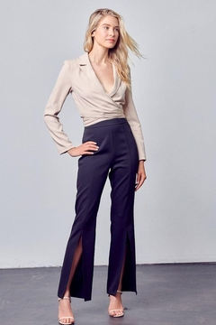 Do+Be Collection  Open Front Woven Slit Pants - Product List Image