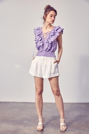 Do+Be Collection  Pleated Detail Shorts - Front cropped
