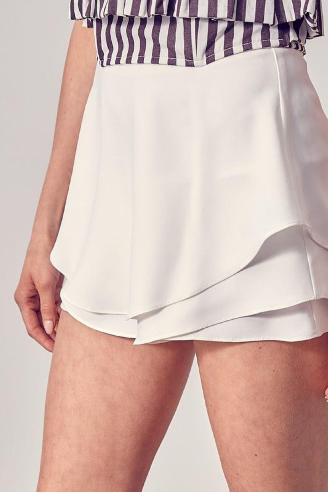 Do+Be Collection  Tiered Detail Skort - Back Cropped Image