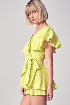 Do+Be Collection  Wrap Tie Romper - Alternate List Image