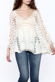 Do Everything in Love White Crochet Popover Top - Product Mini Image
