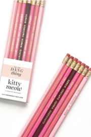 Lyn -Maree's Do the Dang Thing - Inspirational Pink Pencil Pack Set - Front full body