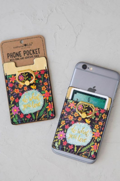 Natural Life Do What You Love Phone Pocket Ring - Alternate List Image