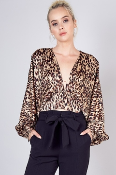 Shoptiques Product: Animal Print Blouse