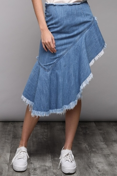 Shoptiques Product: Aysmetrical Denim Skirt