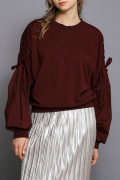 Shoptiques Product: Balloon Sleve Pullover