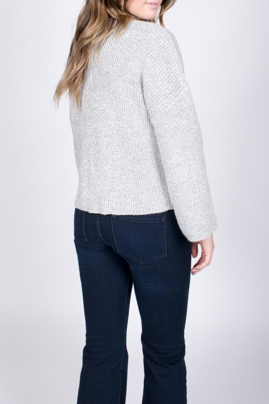Do & Be Bell Sleeve Choker Sweater - Back Cropped Image
