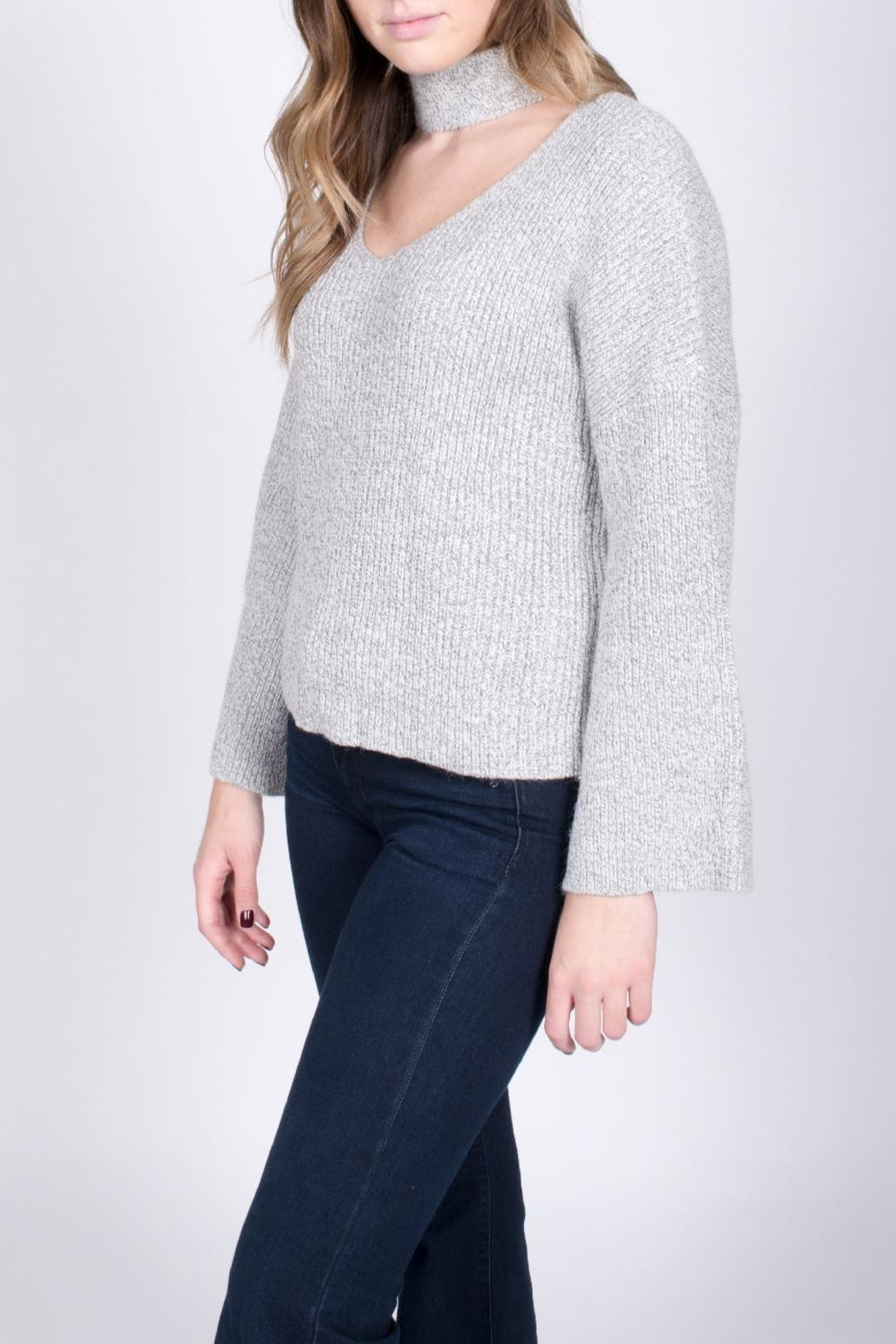 Do & Be Bell Sleeve Choker Sweater - Front Full Image