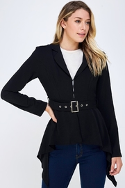 Do & Be Belted Black Blazer - Product Mini Image