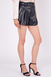 Do & Be Belted Faux-Leather Shorts - Front full body