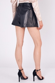 Do & Be Belted Faux-Leather Shorts - Back cropped