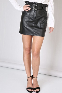 Shoptiques Product: Belted Leather Skirt