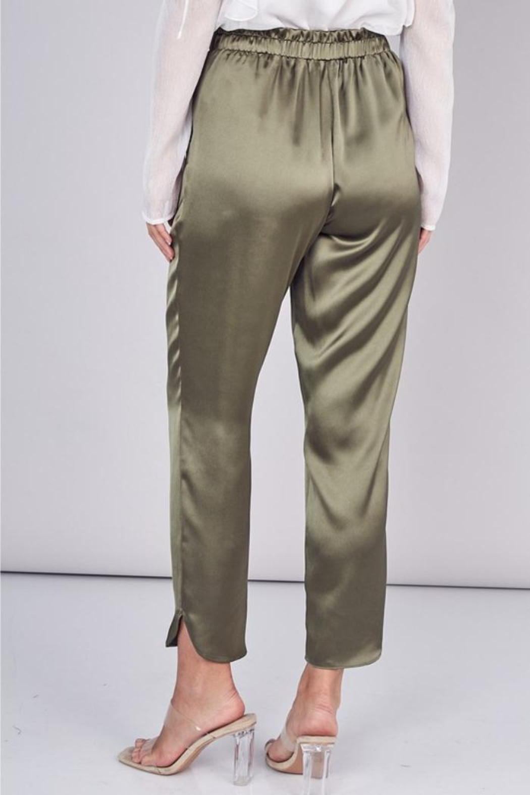Do & Be Belted Satin Pant - Side Cropped Image