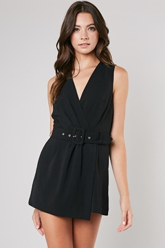 Do & Be Black Belted Romper - Product List Image